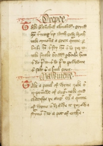 medieval recipe
